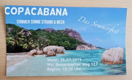 """Sommerfest 2019 stand unter dem Motto """"Copacabana"""""""
